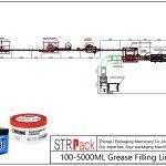 Automatická plnicí linka mazacího tuku 100ML-5L