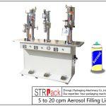 Poloautomatický plnící stroj na aerosoly