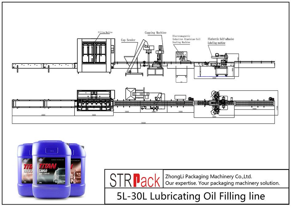 Automatické plnicí potrubí mazacího oleje 5L-30L