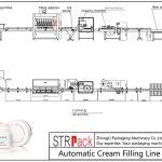 Plnicí linka automatické smetany