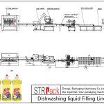 Plnicí linka pro automatické mytí nádobí