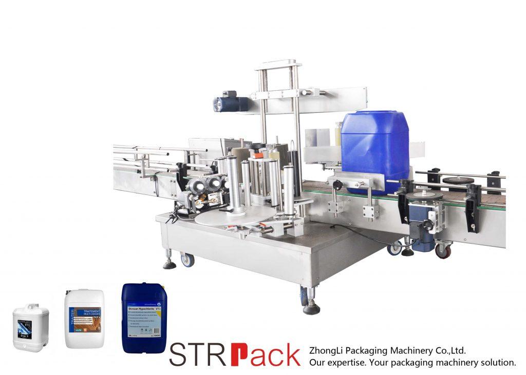 Automatický oboustranný etiketovací stroj pro 5-25L buben
