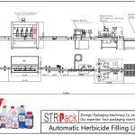 Plnicí linka pro automatické herbicidy