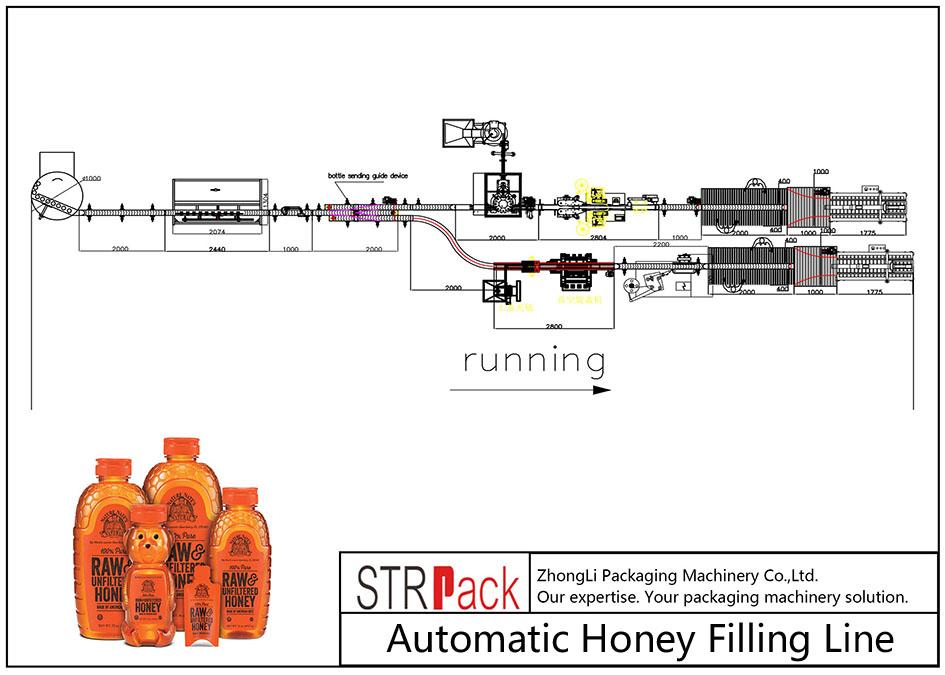 Automatická linka na plnění medu
