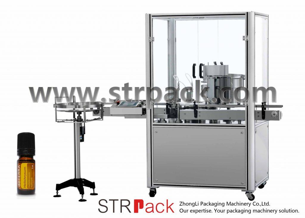 Lisovací stroj na plnění esenciálních olejů