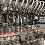Stroj na plnění tekutého mýdla a uzávěr lahví