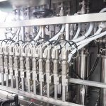 Stroj na plnění mléka krém na plnění lahví
