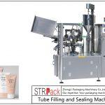 Stroj na plnění a uzavírání plastových trubek SFS-100