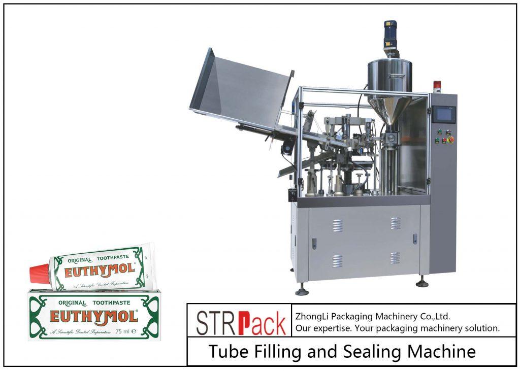 Plnicí a těsnící stroj na kovové trubky SFS-60Z