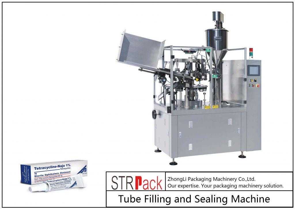 Stroj na plnění a uzavírání kovových trubek SFS-80Z