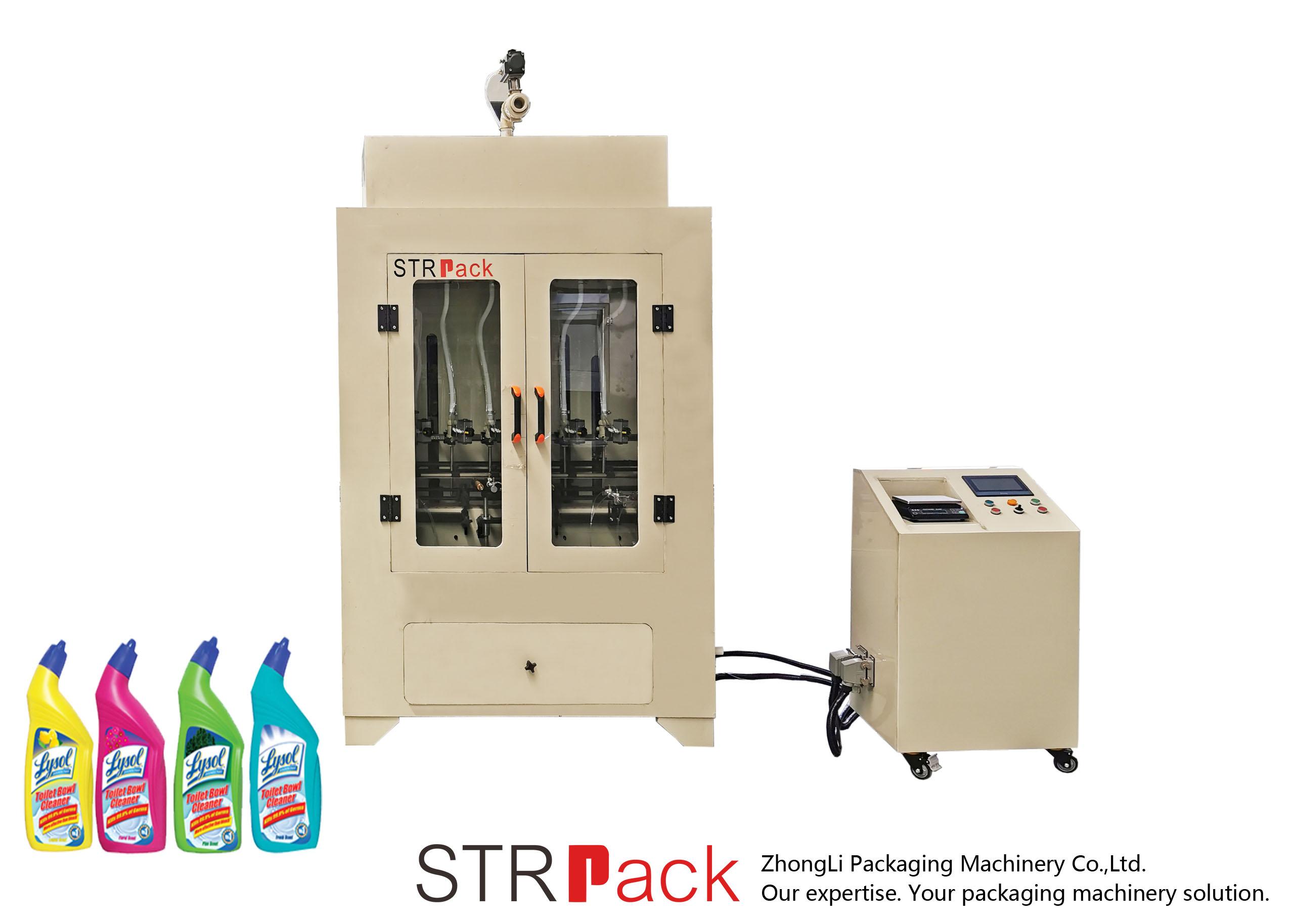 Stroj na plnění tekutých toaletních přípravků